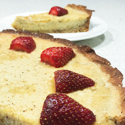 HEALTHY no bake CUSTARD TART