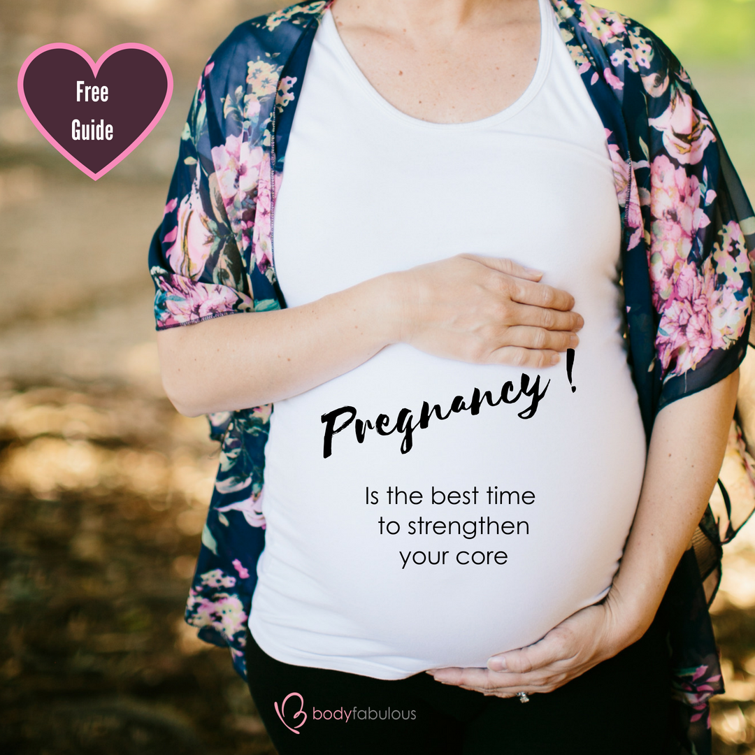 Pregnancy is the BEST time to strengthen your core !