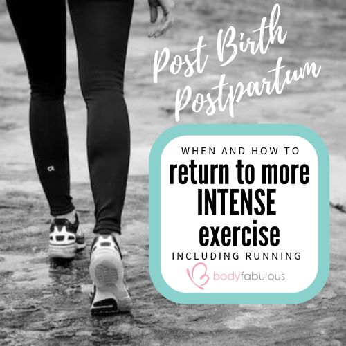 Return to exercise SAFELY post birth