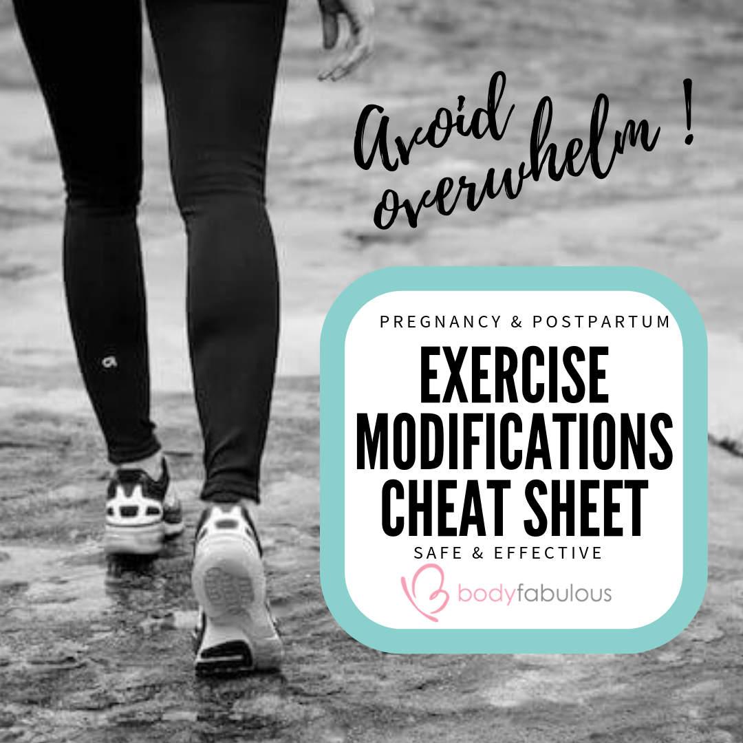 EXERCISE MODIFICATIONS for pregnancy and postpartum