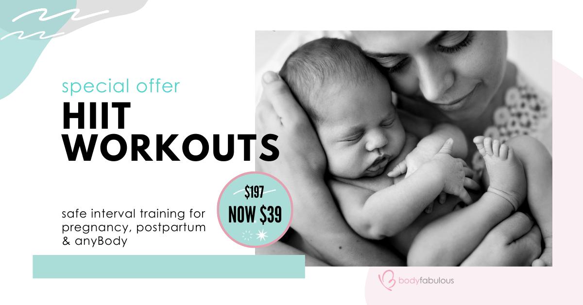 online-pregnancy-hiit-postpartum-workout